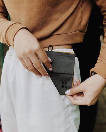 Сірий гаманець Мідтаун