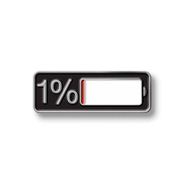 Значок 1%