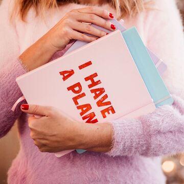 """Блокнот для планированния """"I have a plan"""" розовый"""