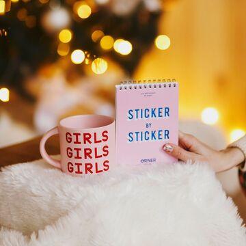 Stiker book pink