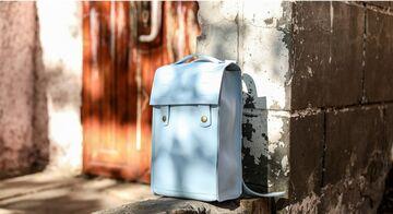 Блакитний рюкзак P016