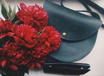 Зелена сумка B019