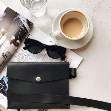 Чорна матова сумка