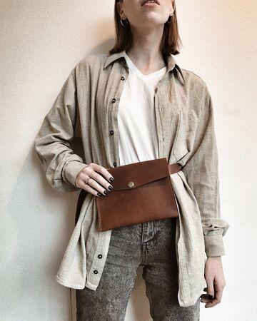 Світло-коричнева сумка