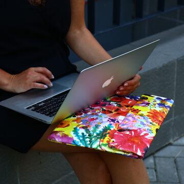 Чохол для ноутбука Квіти 15