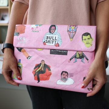 Рожевий чохол для ноутбука Paper Ninja Webad 13