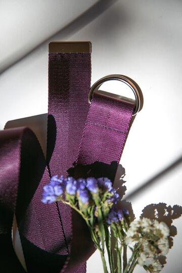 Темно-фіолетовий ремінь з нейлону