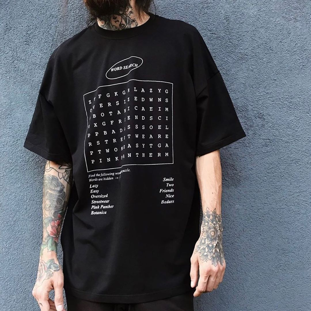 Чорна футболка Word Search