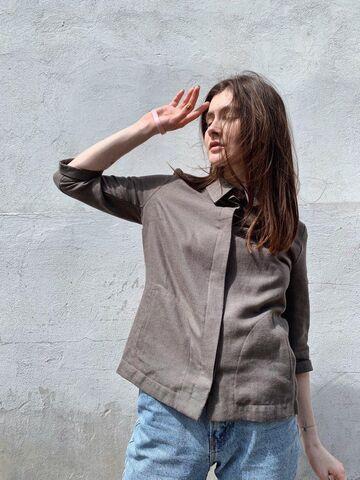 Жакет-сорочка кольору хакі