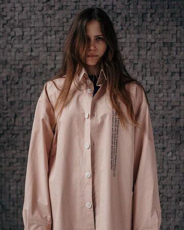 Рожева жакет-сорочка