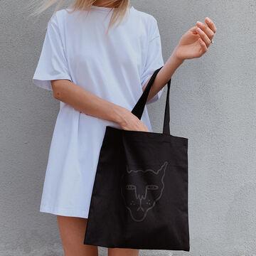 Чорний квадратний шопер