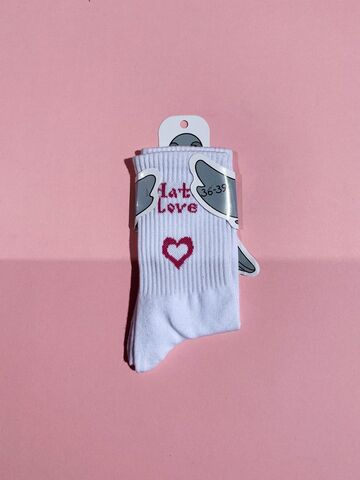 Білі шкарпетки Hate Love