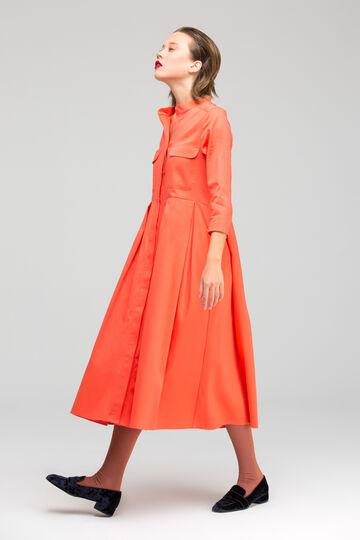 Коралова бавовняна сукня Nastya
