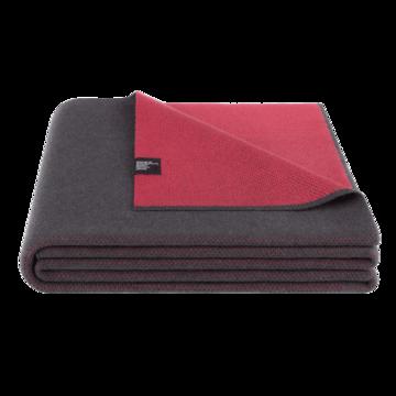 Сіро-червоний плед Twin Lava Red