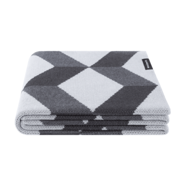 Сірий плед Classic Blocks