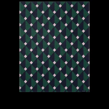 Рожево-зелений плед Classic Room