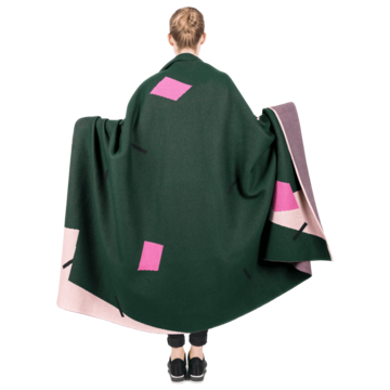 Зелено-рожевий плед Limited Cactus
