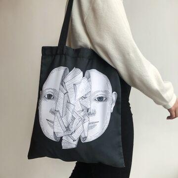 Чорна сумка з габардину