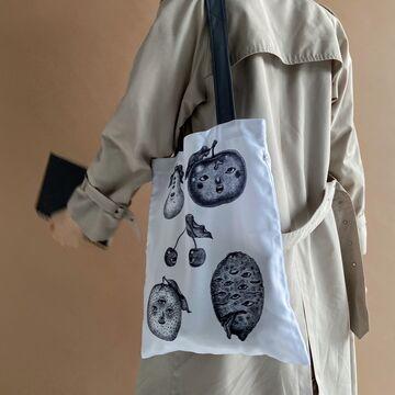 Біла сумка з габардину