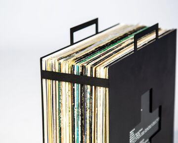Чорний контейнер-стійка для платівок LP Ambulance