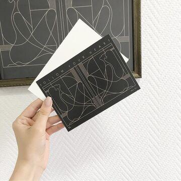 Чорна прямокутна листівка