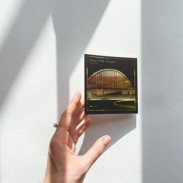 Чорна квадратна листівка ККЗ Україна