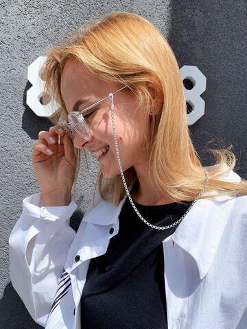 Срібний ланцюжок для окулярів