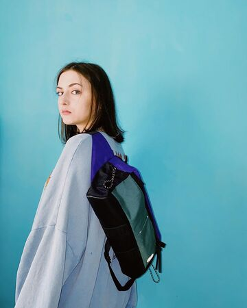 Поясна сумка Аракава mid size фіолетова Cordura