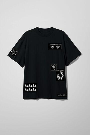 Чорна футболка Take my Hand Oversized