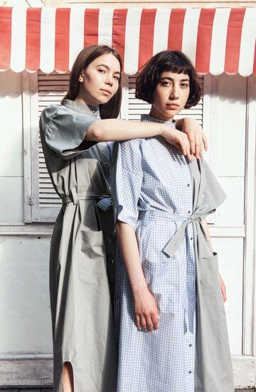 Сіро-блакитна сукня-сорочка