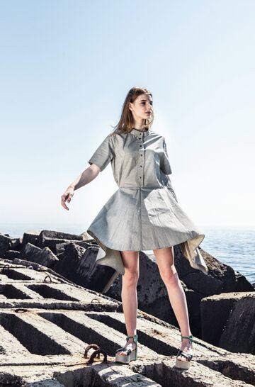 Сіра бавовняна сукня-сорочка