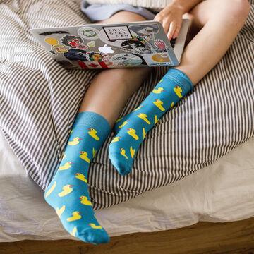 Блакитні шкарпетки Качки