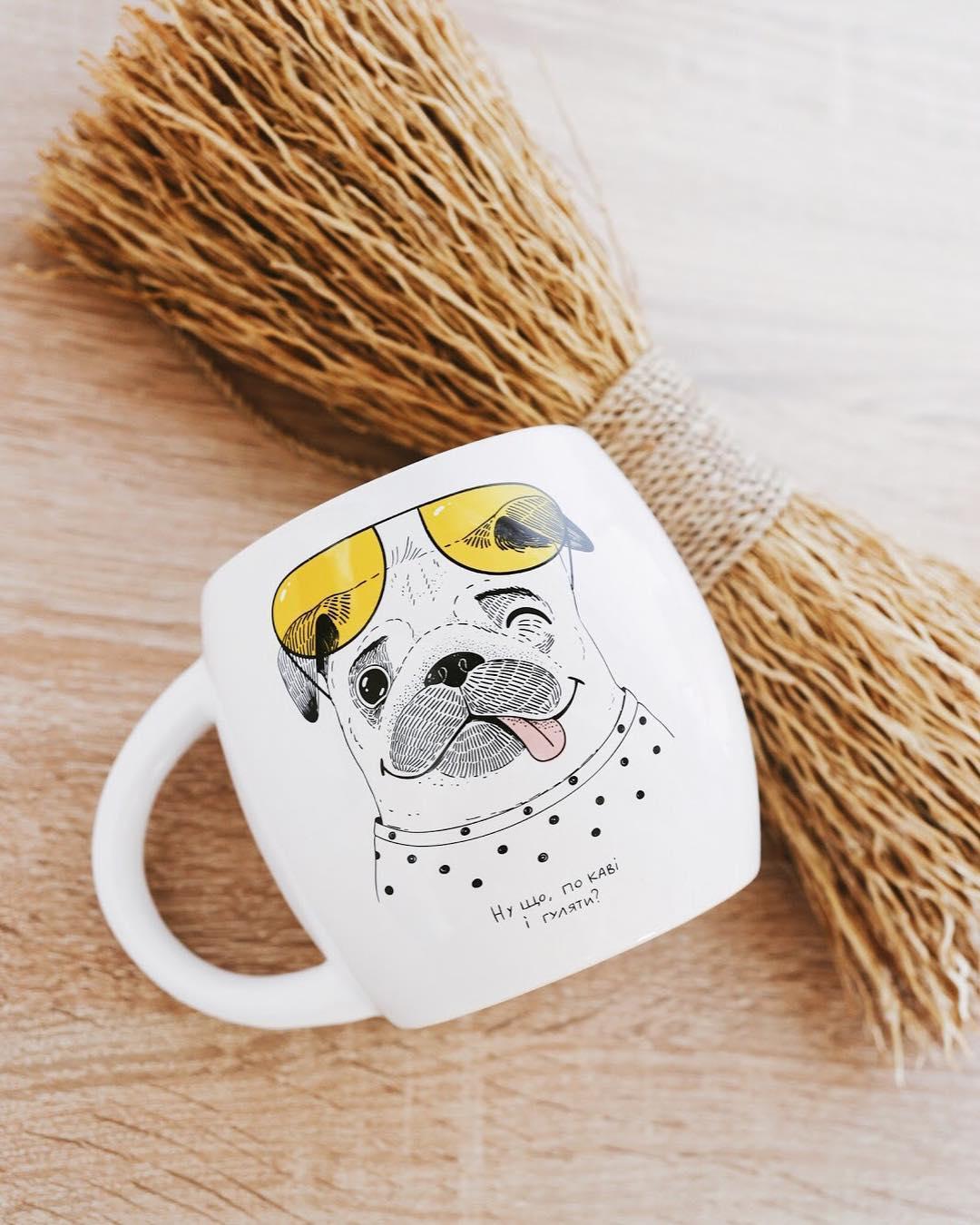 Чашка Щасливий Мопс