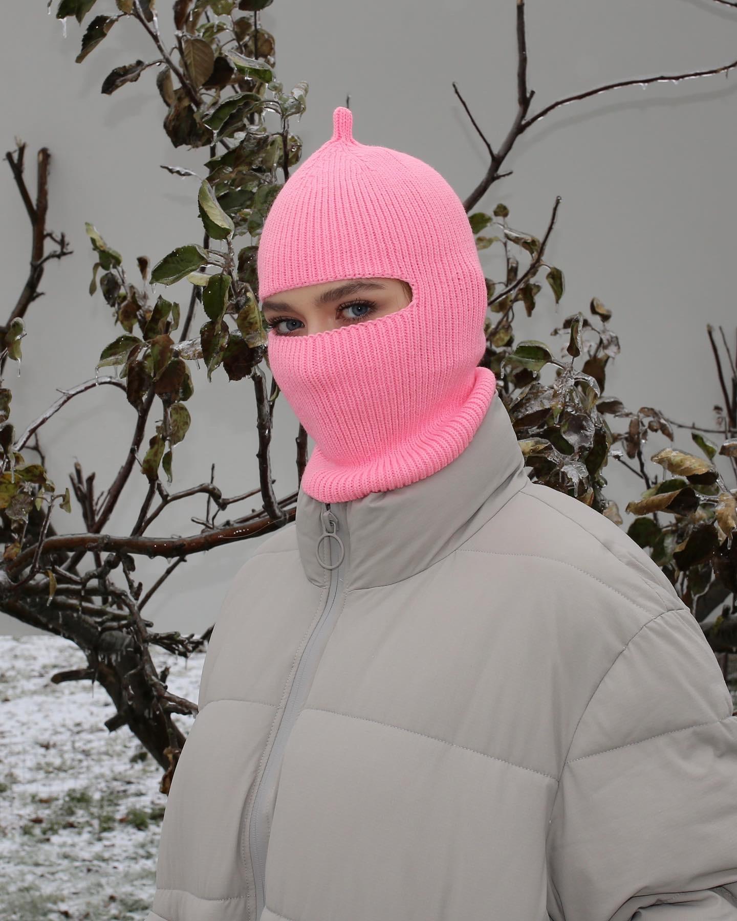 Балаклава рожева з петлею