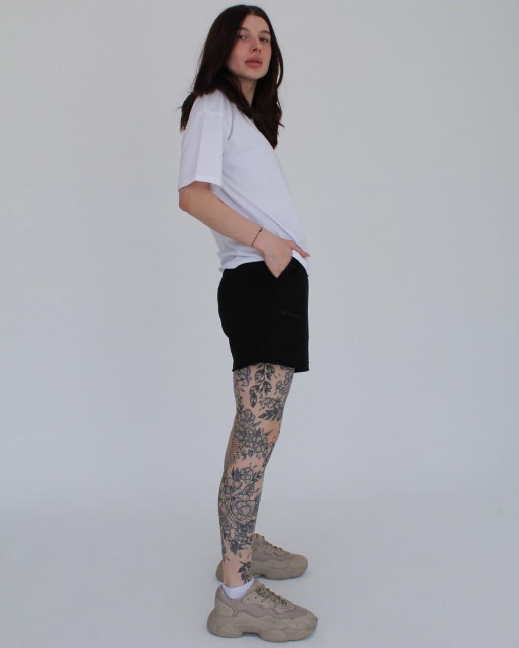 Чорні Жіночі шорти подвійна нитка