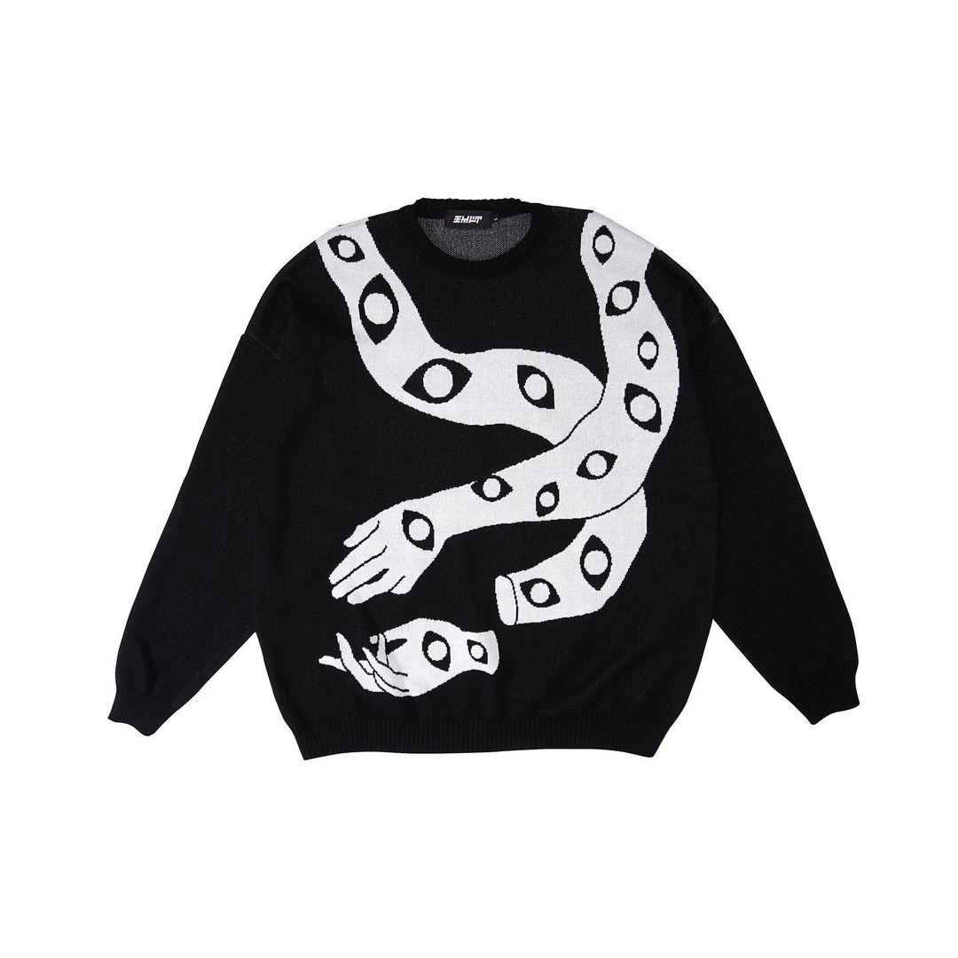 Чорний в'язаний светр Poison Cuddle