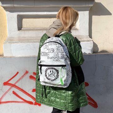 Білий рюкзак Тайто x Dima Fatum