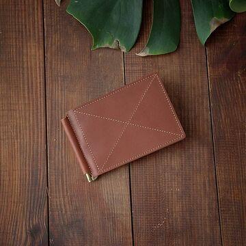 Світло-коричневий гаманець з зажимом для грошей