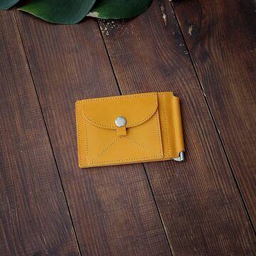 Жовтий гаманець з зажимом для грошей