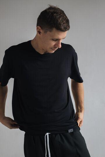 Чорна футболка з бавовни