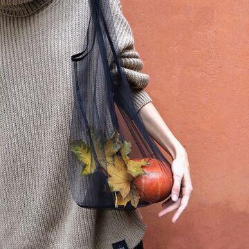Черная сумка через плечо Спасибо Пакет Не Нужен