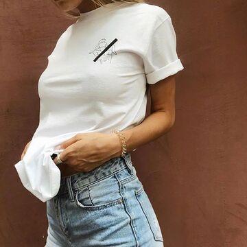 Біла футболка For Girls 2