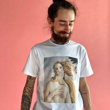 Біла унісекс футболка Венера