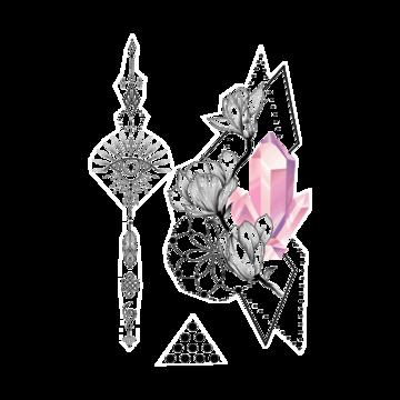 Тимчасове тату Рожевий Діамант