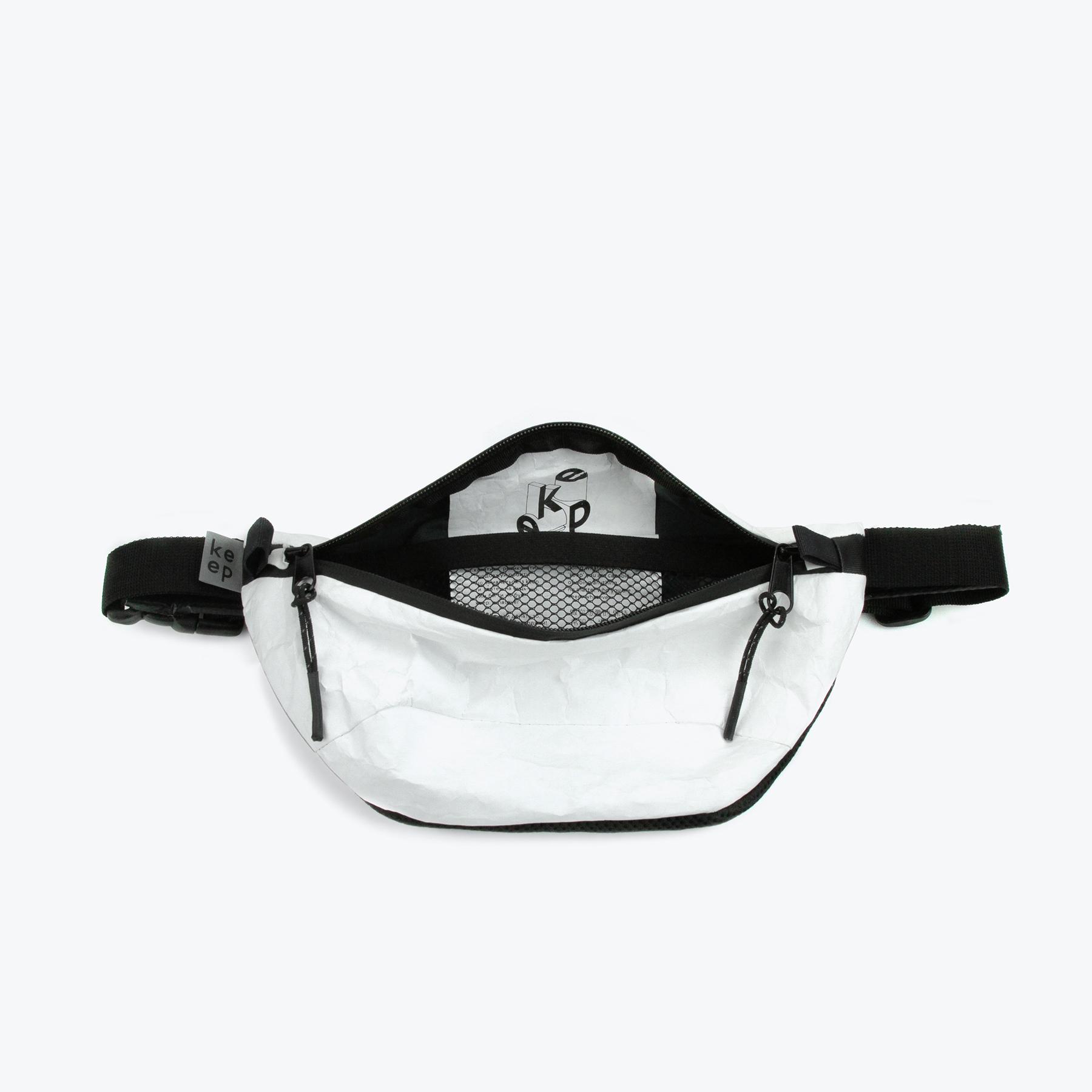 Біла поясна сумка Шибуя