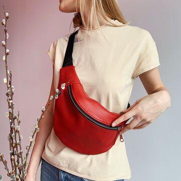Червона поясна сумка