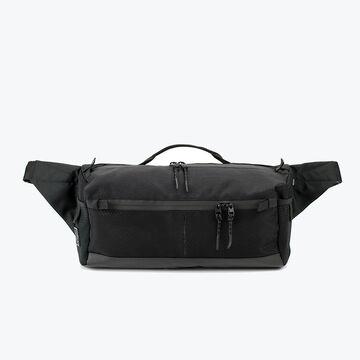 Чорна поясна сумка Аракава mid size
