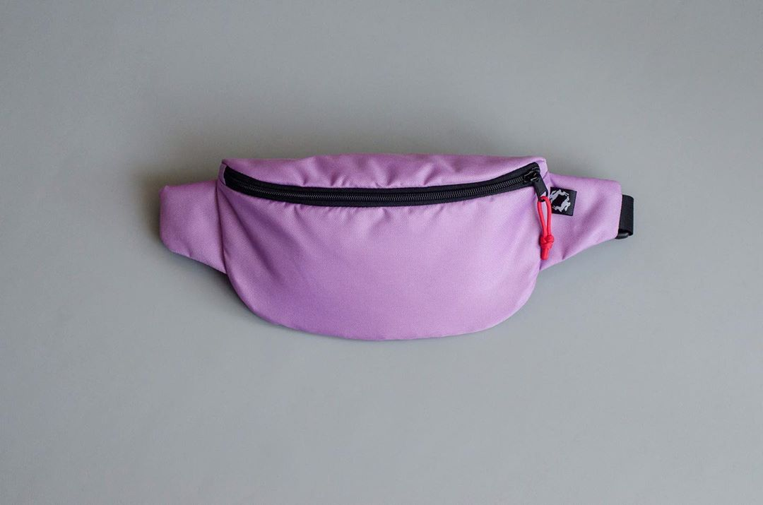 Лілова поясна сумка Hip Bag