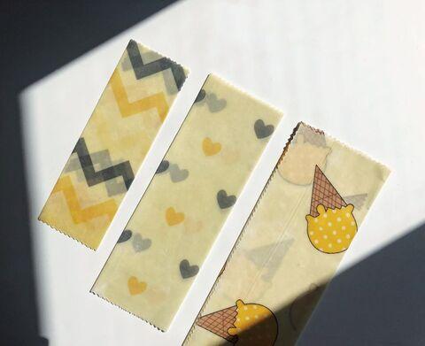 Сет батогоразових вощених серветок Жовтий